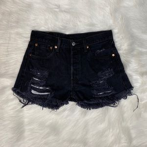 Levis high waisted shorts size 10 black